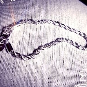 Jewelry - Sterling Silver Twisted Rope Bracelet